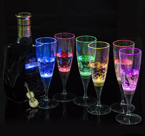 Display Promotion 6 Pack LED Wine Champagne flute's Light