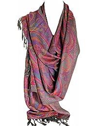 Paisley hermosa Pashmina imprimir étnicos sentir abrigo chal bufanda bufandas Hijab en ricos colores