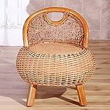 DYY Rattan Hocker Home Schuhe Bank Mode Lounge Stuhl Moderne minimalistische natürliche Rattan Kleine Hocker