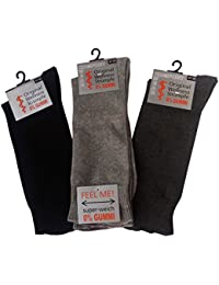 6 Paar Gesundheitssocken Herren ohne Gummi XXL, Größe 47-58, Socken ohne Bund, für Diabetiker geeignet, extra breiter Komfortbund, Übergrößen