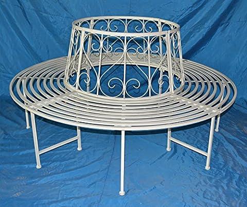 Baumbank bank fer forgé rundbank 360° ø 161 cm banc de jardin meubles banc de (Metallo Rotonda Panca)
