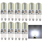 10 Stück, G9 5 W LED Kapsel Glühbirne, AC 220 V, entspricht 40 W Halogen 400 Lumen Kronleuchter Lampen Halogen Ersatz; 360 ° Abstrahlwinkel (Kaltweiß)