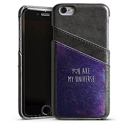 Apple iPhone 6 Plus Housse Étui Protection Coque Phrase Amour Amour Étui en cuir gris