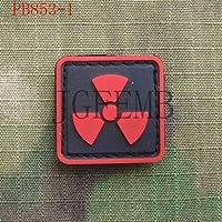 Generic 2 * Stücke Biohazard Resident Evil Umbrella Nuclear Radiation Warnung Taktik 3D PVC Patch: PB853