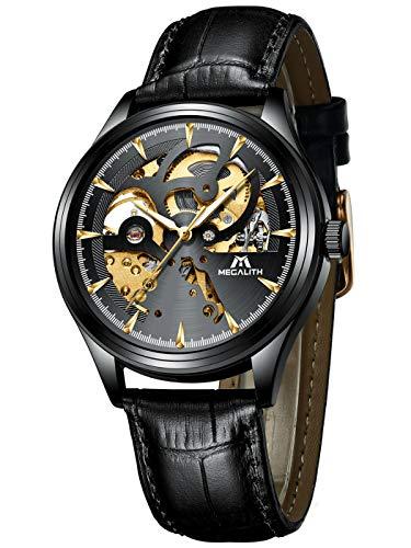 780c5b7eed7dfb Caratteristiche ed informazioni su orologio uomo orologio da polso  automatico meccanico impermeabile sport quadrante scheletro argento orologi  ...