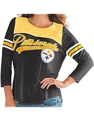 "Pittsburgh Steelers Women's G-III NFL ""Touchdown"" Dual Blend 3/4 Sleeve T-shirt Chemise"