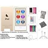 Apple iPod Nano 16GB - Gold + Extra Accessories, 7th Generation *LATEST MODEL Released July 2015*