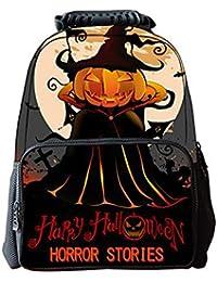 Preisvergleich für LAWLAI Kinder Rucksack Halloween-Serie Cartoon Kürbis Printing Schultasche Outdoor Reise Multifunktions Taschen