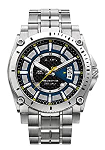 Bulova men's Quartz Watch Analogue Display and Stainless Steel Strap 96B131
