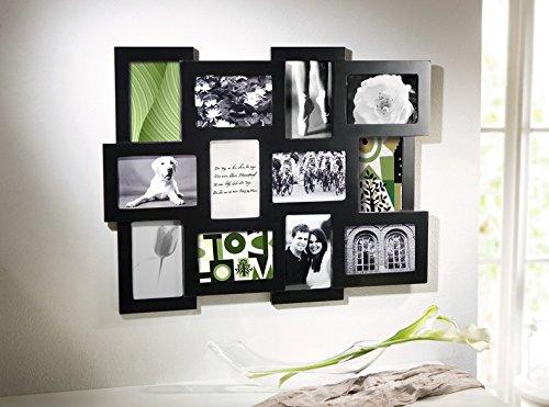 Cadre photo pèle-mêle noir laqué