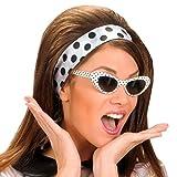 Retro Sonnenbrille - gepunktet - 50er 60er Jahre Brille Damenbrille 50er 60er Cat Eye Partybrille Faschingsbrille Damen Rockabilly Cateye Brille