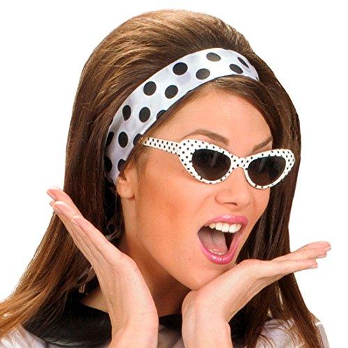 Retro Sonnenbrille - gepunktet - 50er 60er Jahre Brille Damenbrille 50er 60er Cat Eye Partybrille...