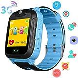 3G Bambini Smartwatch - GPS/Wi-Fi/LBS Localizzatore Contapassi Fitness Tracker Ragazzi Ragazze Smart Watch con Chiamate a 2 vie Fotocamera SOS Voice Chat per iOS Android (Blu)