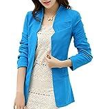 Aisuper - Giacca da abito - Maniche lunghe  -  donna blu Blue