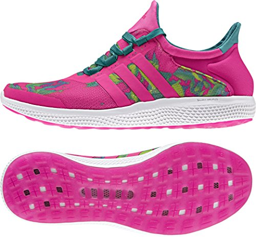 Adidas Damen CC Sonic W Tennisschuhe, Mehrfarbig (Rosa / Verde (Rosimp / Rosimp / Eqtver), 40