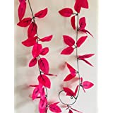 Cryoc Artificial Plant Vines- Blossom Pink (1pc) / Artificial Plants For Living Room / For Wall Decoration, Wedding Decoration, Party Decoration, Vehicle Decoration, Stage Decoration / Length 8 Feet (8ft X 1pc) / Artificial Plant Creeper / Plastic Plant V