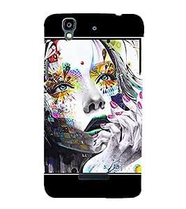 Thinking Girl Graffiti Hard Polycarbonate Designer Back Case Cover for YU Yureka Plus :: Yu Yureka PlusYU5510A