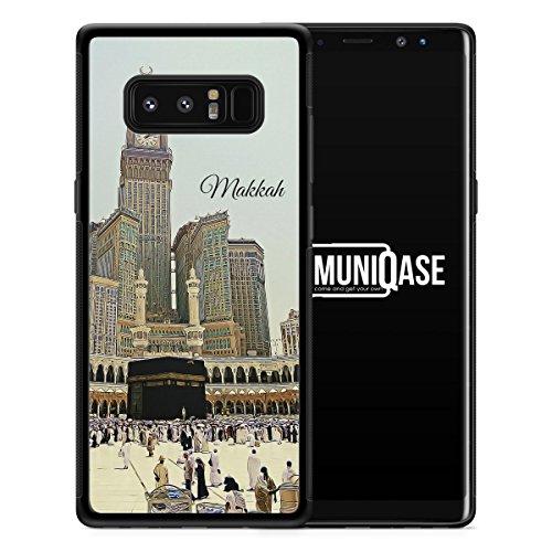 Samsung Galaxy Note 8 Hülle SILIKON - Panorama Makkah Mekka - Motiv Design Islam Muslimisch Schön - Handyhülle Schutzhülle Cover Case Schale