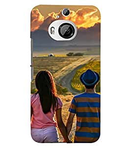 Printvisa Potrait Of A Love Couple Back Case Cover for HTC One M9+::HTC One M9 Plus