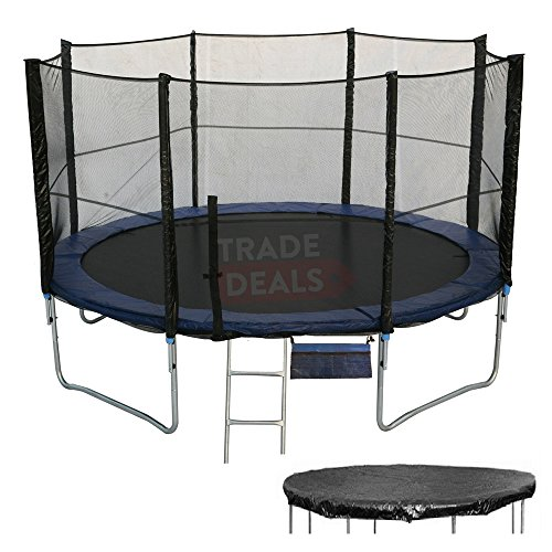 ActivePlus ® XL Extra-Large 14FT 14 FT Foot Trampoline With FREE Safety Net Enclosure, Ladder, Rain Cover & Shoe Bag