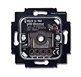 Busch Jäger LED Dimmer Drehdimmer 6523 U-102 (6523U-102) UP Unterputz LED 2-100 W