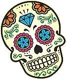 Mexicano Dia de los Muertos Calavera Motivo de Multi Color Vinilo Coche Moto Pegatina (Pequeño) 120x90mm Aproximadamente