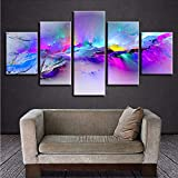 gwgdjk Stampa Poster Modern Wall Art 5 Pezzi Colore Abstract Graffiti Scenery Pictures Quadri in Tela Modellata Living Room Decor-40X60/80/100Cm,Without Frame