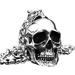 PAURO - Sin cadena, grande heavy biker gótico, acero inoxidable