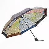 Fulton Ombrello pieghevole, London Map (Multicolore) - L761