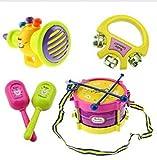 ZEARO 5pcs Kids Rolle Musikinstrumente Band Drum Kit Kinder-Spielzeug-Geschenk-Set