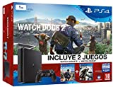 PlayStation 4 Slim (PS4) 1TB - Consola + Watch Dogs 2 + Watch Dogs