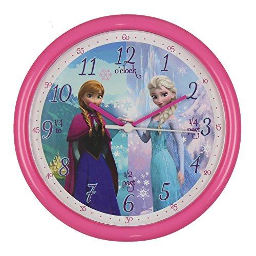 Disney Frozen Kinderwanduhr Anna & Elsa 25cm rosa - Das perfekte Geschenk