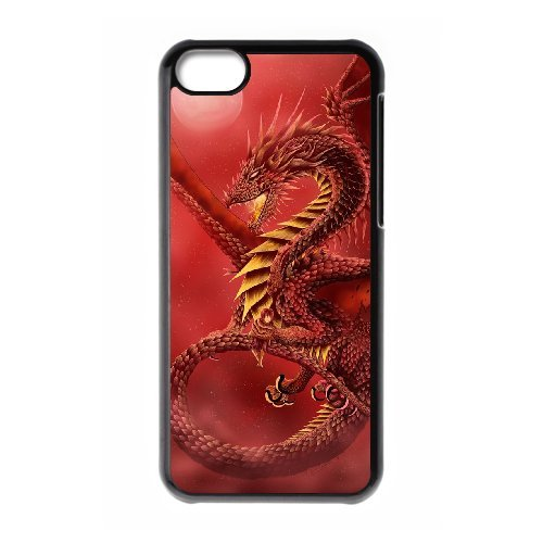 LP-LG Phone Case Of Red Dragon For Iphone 5C [Pattern-6] Pattern-1