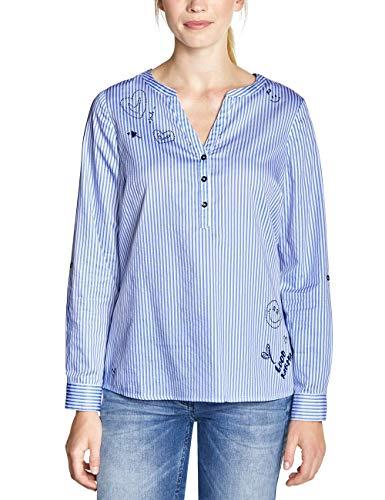 Cecil Damen 341616 Bluse, Tinted Ink Blue, XX-Large (Herstellergröße:XXL)