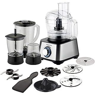 Brabantia-BBEK1113B-Multifunktions-Kchenmaschine-Kitchen-Kchenmaschine-Kitchenmaschine-1000-Watt-abnehmbare-Teile-splmaschinenbestndig-2-Geschwindigkeitsstufen-SilverSchwarz