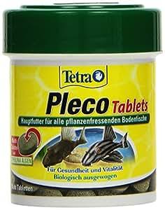 Tetra Pleco Tablets (Grünfutter-Tabletten mit einem hohen Anteil an Spirulina-Algen, Hauptfutter für alle pflanzenfressenden Bodenfische und scheuen Zierfische), 120 Tabletten Dose