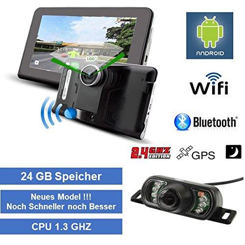 Elebest 17,8cm 7 Zoll DVR ,Navigationsgerät DVR ,Navigation,Tablet PC,Wohnmobil,LKW,PKW, 24GB Speicher,Bluetooth, DVR Kamera, Funk Rückfahrkamera, TMC, WIFI, Radarwarner,Touch-Farbdisplay, lebenslang kostenlose Karten-Update