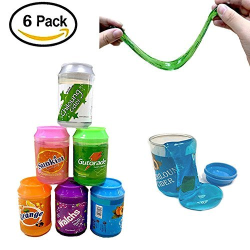 SIMUER Crystal Slime, 6-Pack Arcilla Magic Slime de Juguete...