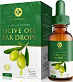 Olive Oil Ear Wax Remover Drops - 100% Pure Earwax Removal Olive Oil, 10ml Bottle - Softens and Removes Waxy Buildup in The Ear - Advanced Ear Wax Remover Drops - Fast Ear Relief