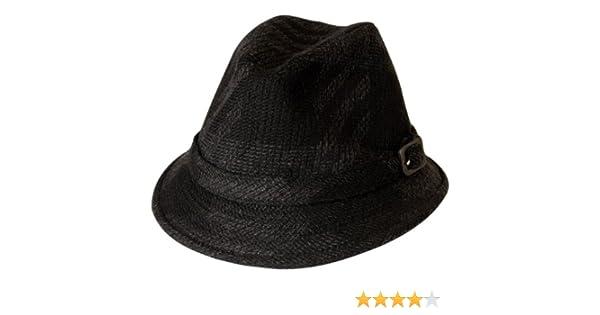 Gamble   Gunn  Clouseau  Vintage Style Drop Brim Fedora  Stalker Hunting Fishing Hat (Black   Grey Tweed)  Amazon.co.uk  Clothing d0706938e2b