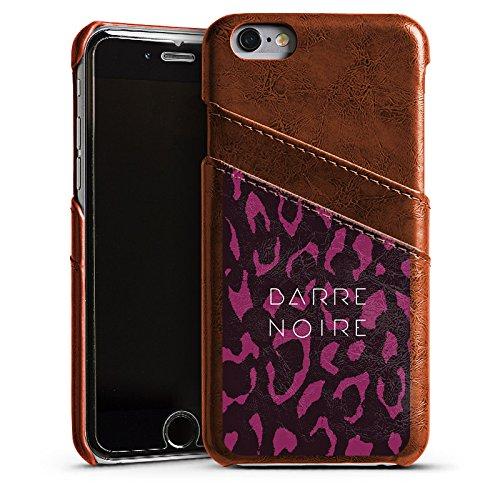 Apple iPhone 4 Housse Étui Silicone Coque Protection BARRE NOIRE Fashion Léopard Étui en cuir marron