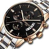 Men's Watches Luxury Fashion Casual Dress Chronograph Waterproof Military Quartz Wristwatches for Men