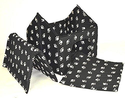 nanook Hundehöhle Chalet Black, Schwarz mit Pfoten - 4
