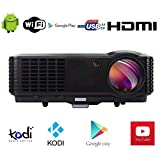 FR S86A 4500 Lumen HD Beamer 7000:1 Heimkino 1080P HDMI USB TV LED Movie Video Beamer für...