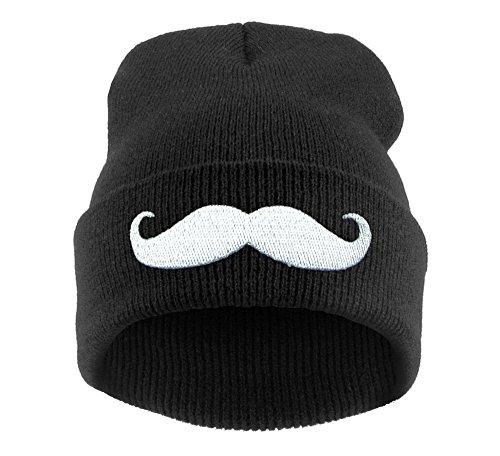 Winter Strickmütze Damen Herren Wurm Beanie Mütze Moustache  MFAZ Morefaz Ltd