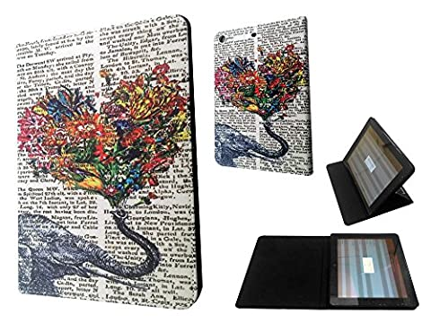 3D Design iPad Mini 1 & ipad mini Retina 1 2 3 Vintage Newspaper Aztec Elephant Floral Trunk Funky Fashion Trend Coque Purse Wallet Pouch portefeuille Poche Coque Case Flip Cover-TPU leather