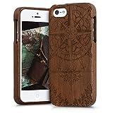 kwmobile Coque Apple iPhone Se / 5 / 5S - Étui de Protection Rigide en Bois...