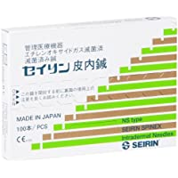 SEIRIN S-NS1406 Spinex, Agujas, S, 0,14 mm x 6 mm, 100 Piezas