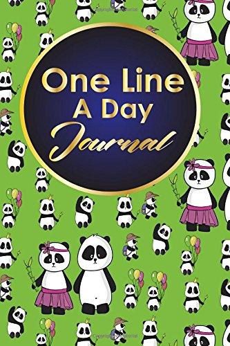 Preisvergleich Produktbild One Line A Day Journal: 5 Year Journal,  Moms One Line A Day Five Year Memory Book,  A Line A Day 5 Year Journal,  One Line A Day Mom Journal,  Cute Panda Cover (One Line A Day Journals)
