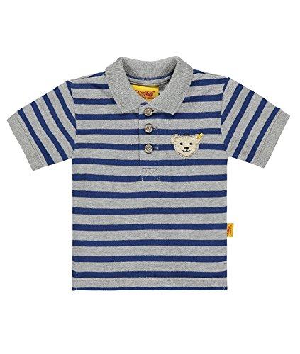Steiff Baby-Jungen T-Shirt Poloshirt 1/4 Arm 6713541, Mehrfarbig (y/d Stripe 0001), 62